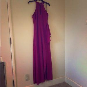 Lulu's- Megenta maxi dress